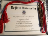 <h5>DePaul University MBA with Honors in Brand Management and Entrepreneurship </h5>